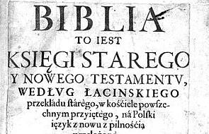 Ukazał się reprint Biblii ks. Jakuba Wujka