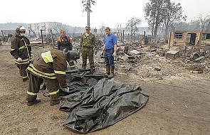 Rosja: Już 34 ofiary śmiertelne pożarów