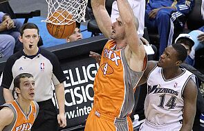 "NBA: Porażka ""Słońc"", 9 punktów Gortata"