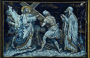 Stacja II - Pan Jezus przyjmuje krzyż