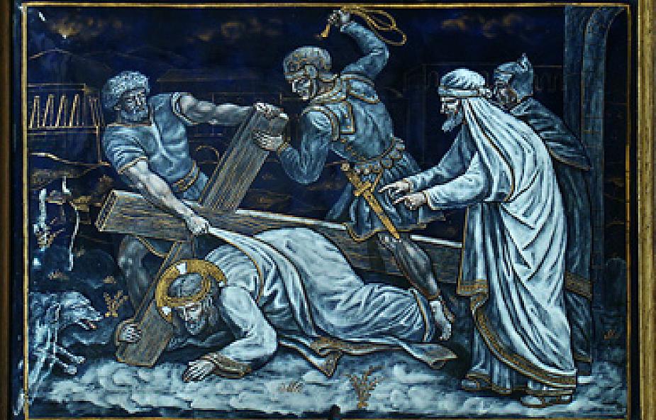 Stacja VII - Drugi upadek Pana Jezusa