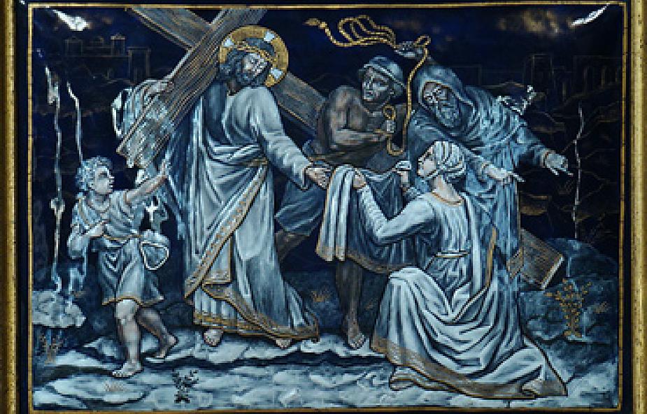 Stacja VI - Weronika ociera twarz Pana Jezusa