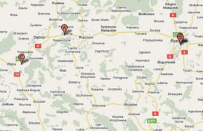 Wypadek na krajowej 4 w Lubzinie