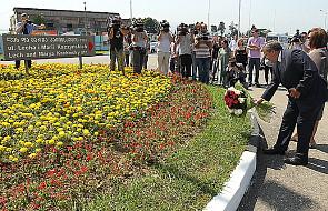 Kwiaty na bulwarze im. Lecha i Marii Kaczyńskich