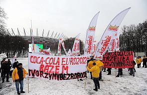 Pikieta przeciwko zwolnieniom w Coca-Coli