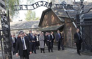 Książę i księżna Monako odwiedzili Auschwitz