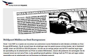 Potępiają holenderski portal PVV i ciszę premiera