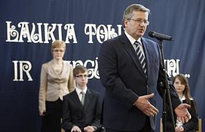 Komorowski o stosunkach polsko-litewskich