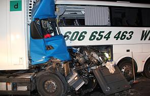 Wypadek polskiego autokaru z uczniami