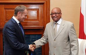 Premier Tusk spotkał się z prezydentem RPA