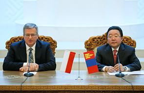 Komorowski rozpoczął wizytę w Mongolii