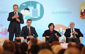 """Premier Tusk otworzył """"Forum dla rodziny"""""""