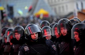 Duża koncentracja milicji w centrum Kijowa