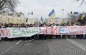 """""""Ukraina to Europa!"""", """"Precz z bandą"""""""