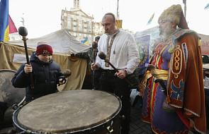 Przygotowania do Nowego Roku na Majdanie