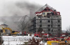 """Pożar dachu hotelu """"Gołębiewski"""" w Mikołajkach"""