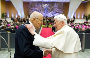 Włoski prezydent żegna się z Papieżem