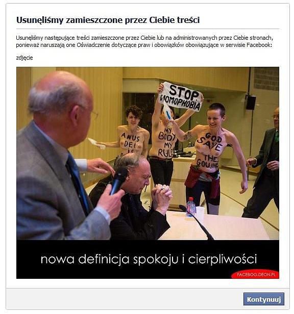 Krótka historia o cenzurze na Facebooku - zdjęcie w treści artykułu nr 2