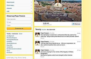 6 mln użytkowników śledzi wpisy Franciszka