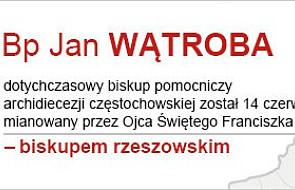 Bp Jan Wątroba - nowy biskup rzeszowski