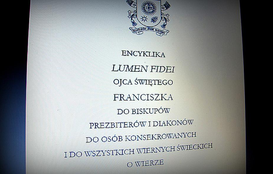 """Pobierz encyklikę """"Lumen fidei"""" za darmo"""