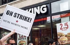 Wielkie protesty pracowników fast foodów