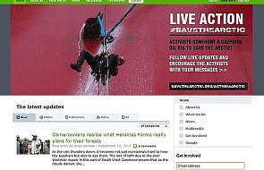Greenpeace na platformie Gazpromu w Arktyce