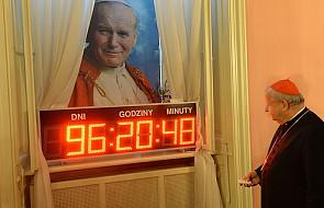 Specjalny zegar odlicza czas do kanonizacji JPII