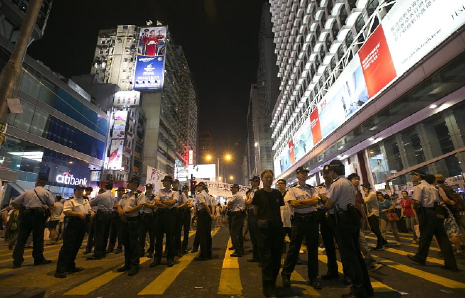Hongkong: nie wykluczamy użycia siły