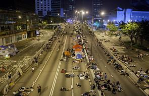 Mniej demonstrantów na ulicach Hongkongu