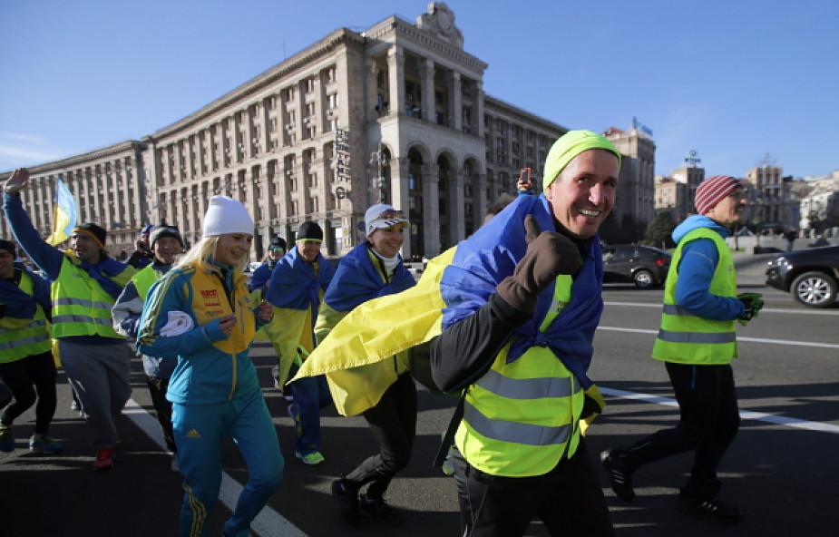 """Polacy upamiętnili rocznicę """"Biegiem na Majdan"""""""