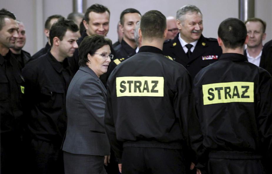 Kopacz: zawsze chwalę się polskimi strażakami