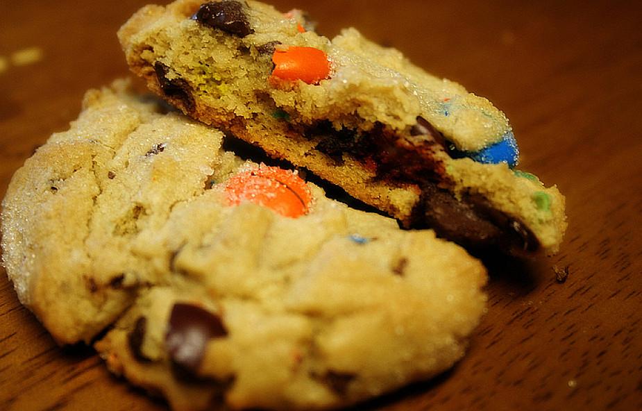 Kolorowe ciasteczka z M & M's