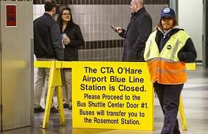 Wypadek pociągu na lotnisku w Chicago