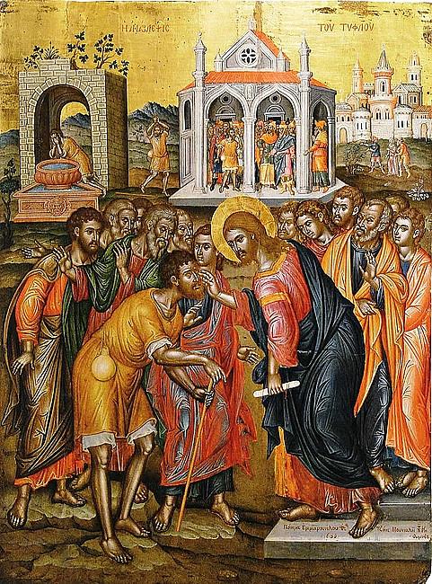 Rekolekcje z ikoną - Jezus uzdrawia niewidomego - zdjęcie w treści artykułu