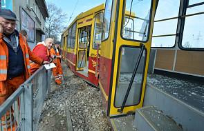 Zderzenie dwóch tramwajów w Łodzi