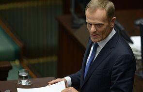 Tusk i wniosek o wotum zaufania dla rządu