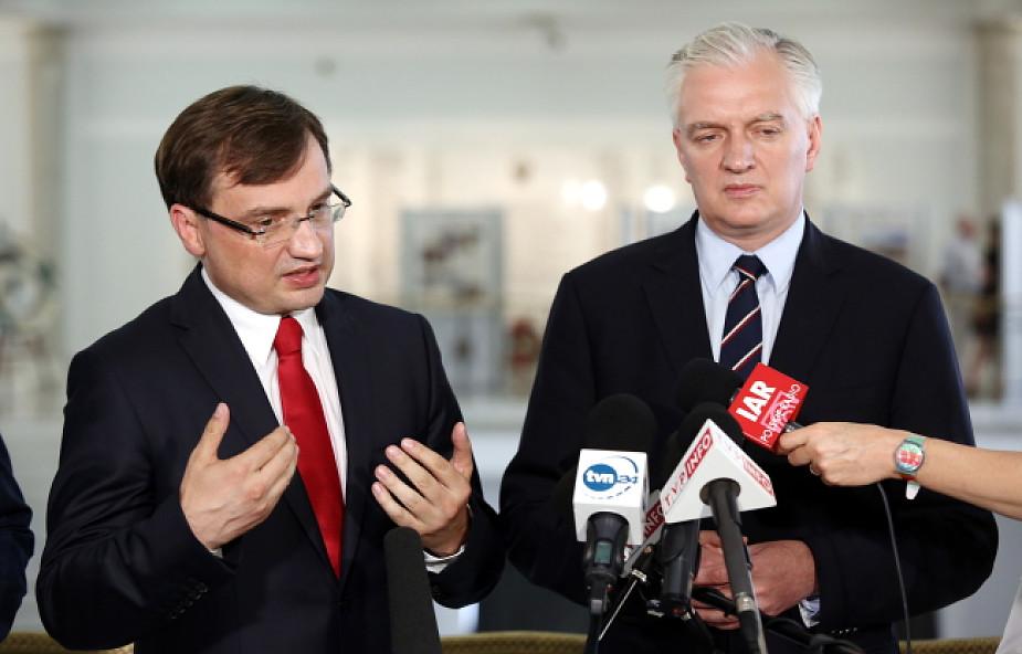 Ziobro i Gowin chcą zjednoczenia prawicy