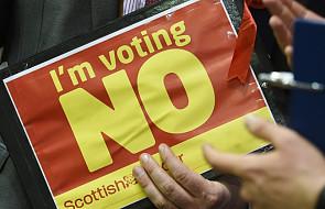 Wyborcy w Szkocji odrzucili niepodległość
