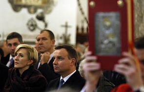 Andrzej Duda przy grobie ks. Popiełuszki