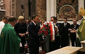 Watykan: Para Prezydencka przed grobem św. Jana Pawła II