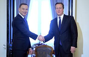 Spotkanie prezydenta Dudy z premierem Cameronem