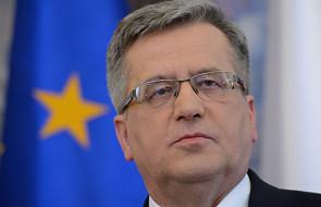 Komorowski: będziemy wspierać Ukrainę
