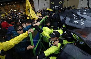 Starcia w Seulu w zw. z katastrofą promu Sewol