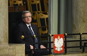 Komorowski: dobrze, że Schetyna mówił o aktywności poza UE