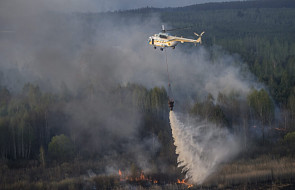 Strażacy dogaszają pożar w strefie Czarnobyla