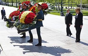 Merkel i Putin przed Grobem Nieznanego Żołnierza