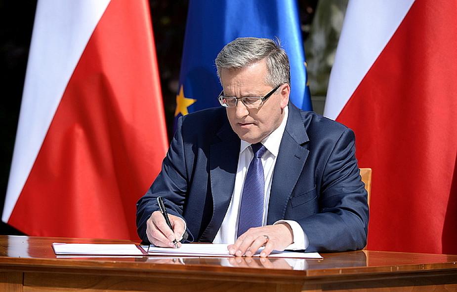 Komorowski podpisał projekt ws. JOW-ów