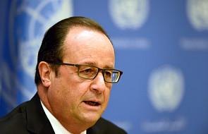 Hollande: nasze siły zniszczyły obóz IS w Syrii