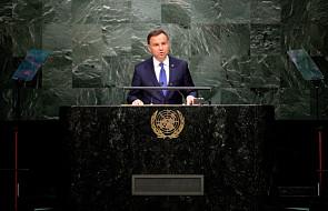 Przemówienie Andrzeja Dudy na szczycie ONZ